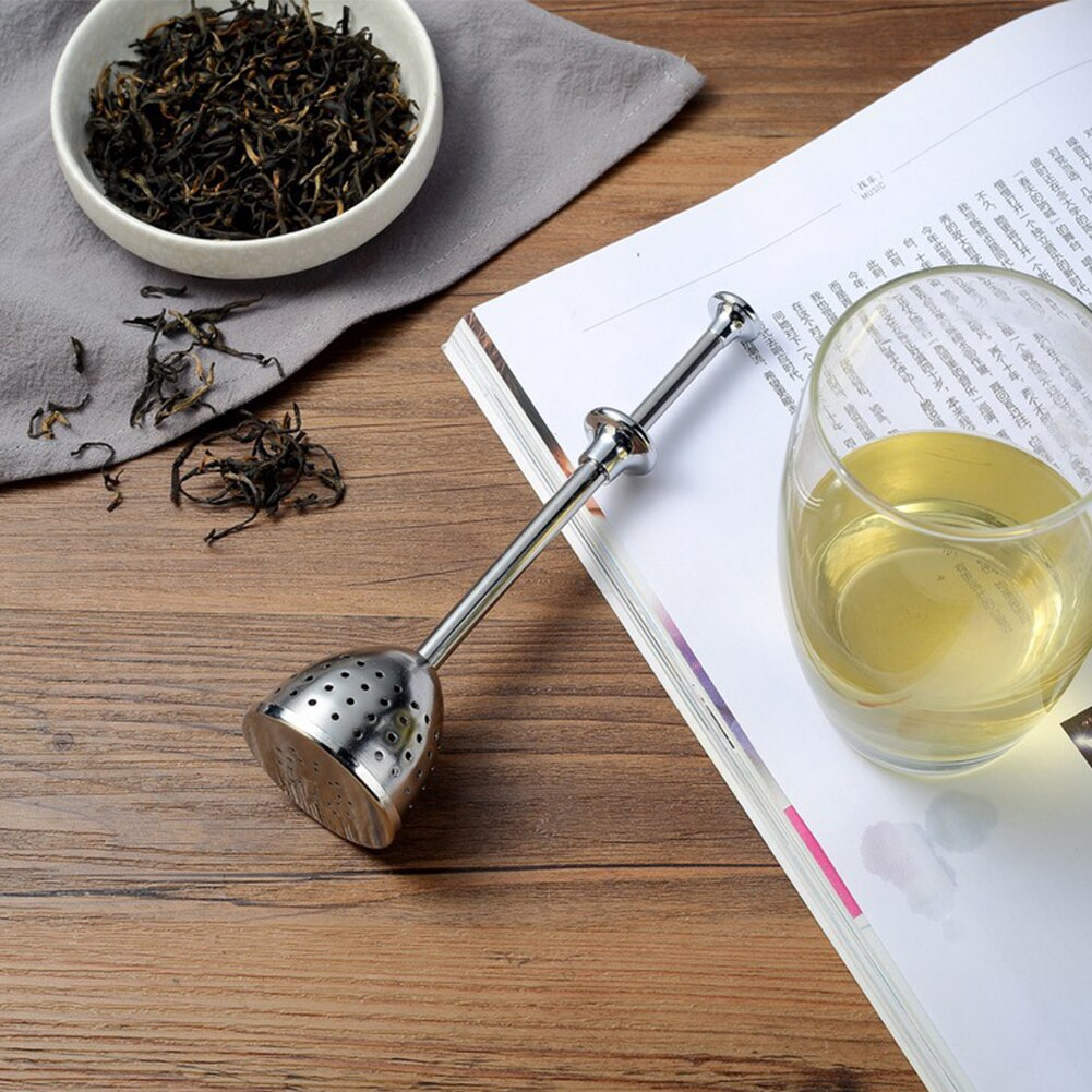Stainless Steel Long Handle Retractable Tea Infuser - Tea With Herbs