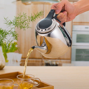 Stainless Steel Induction Cooker Tea / Coffee Pot - 1.2-Liter - Tea With Herbs