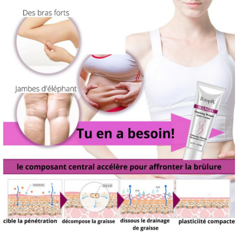 Slimming cream Anti cellulite brule fat cheap 100% Natural - my Féerie