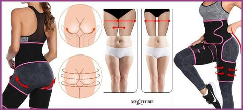 Anti cellulite thigh sweat belt and buttock lift-my Féerie