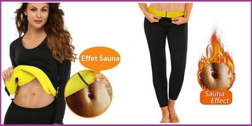 Ensemble de T-shirt et pantalon legging de transpiration effet sauna-My Féerie fitness boutique