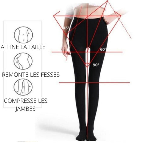 Collant leggings de compression minceur - My Féerie
