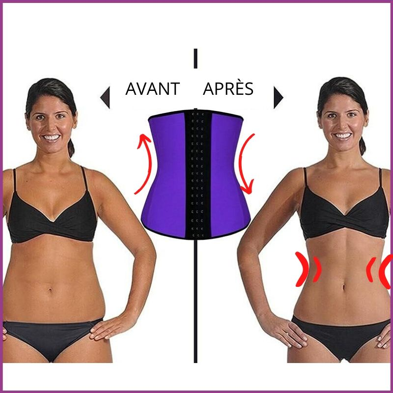 Corset minceur latex GAINE-IT™ - Produits Minceur Ventre Plat Anti-cellulite