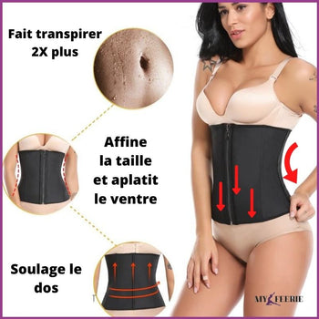 Gaine amincissante latex BODYFIT™ - Produits Minceur Ventre Plat Anti-cellulite