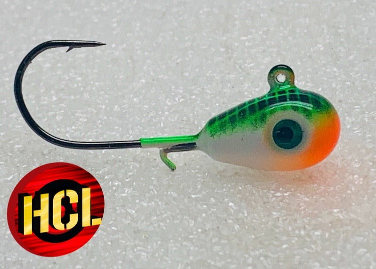 Walleye jigs - Glow jigs - Pike - Trout - Burbot - Atomic Neon Pro Glow Green