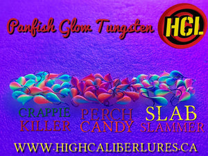 HCL Tungsten Glow Jigs 5mm - Panfish