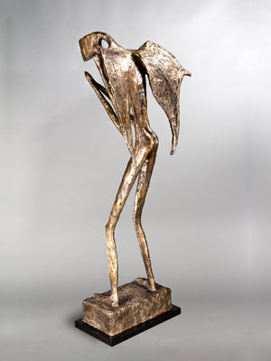 Gesso Cocteau Guardian Life Size Sculpture Bronze Angel