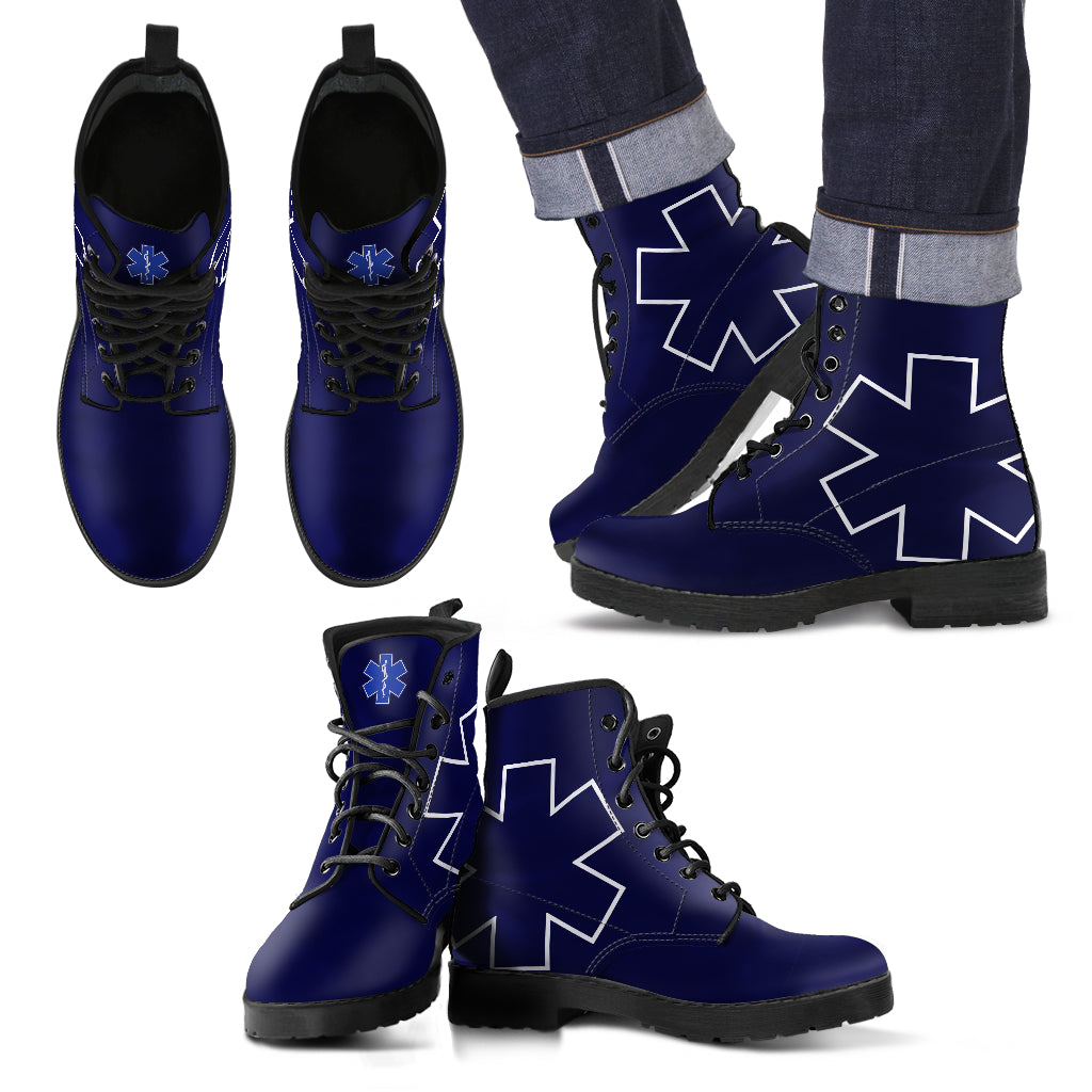 ca0c17ae2fe PRLB01 - EMS/EMT Paramedic Blue X Life Leather Boots - SPECIAL DEAL 50% OFF