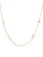 14 K Gold Sideways Initial Necklace