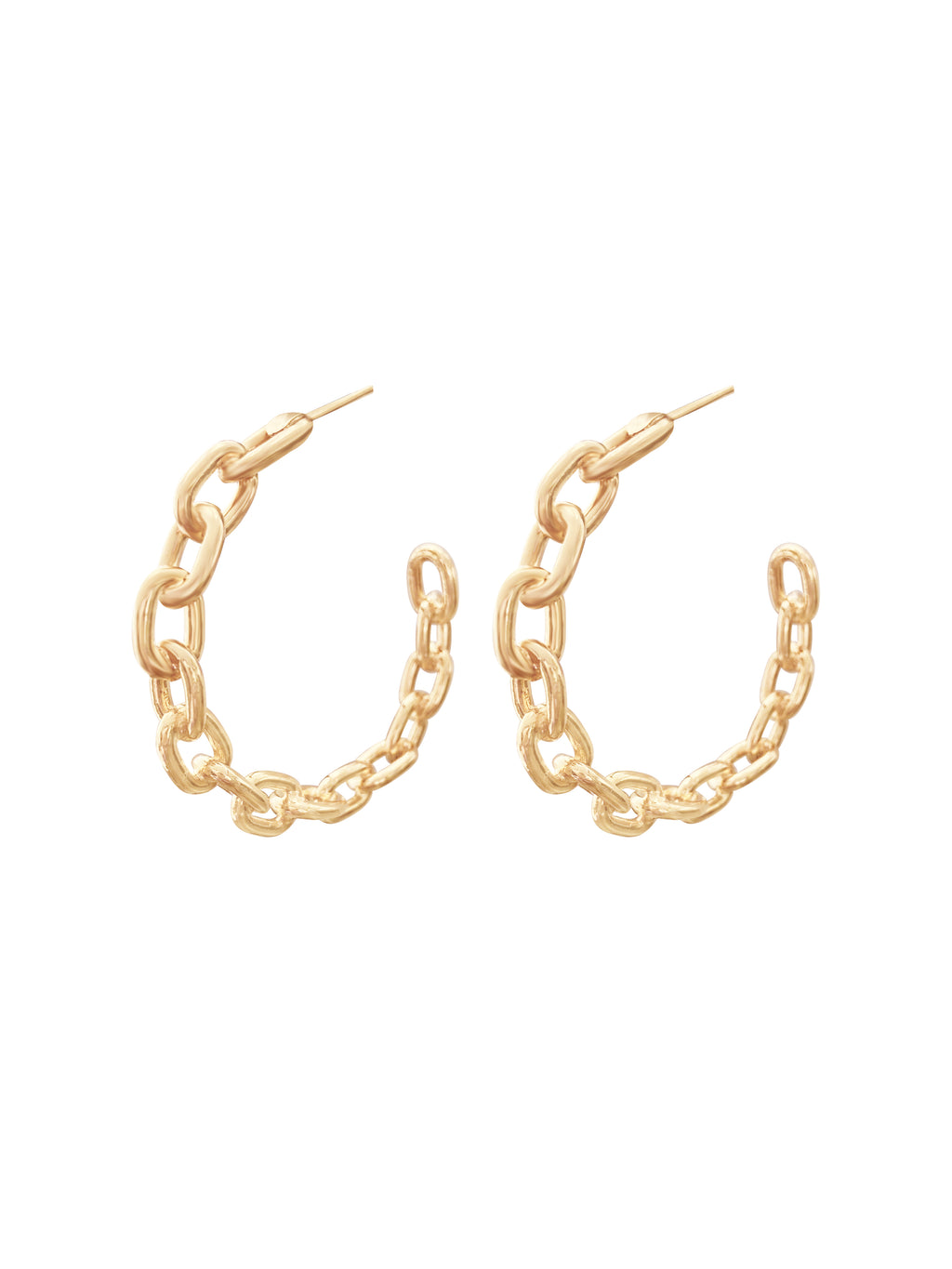 Chained Gold Hoops