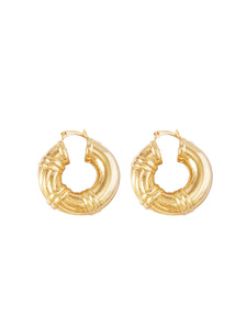Selena Roped - Gold Hoops