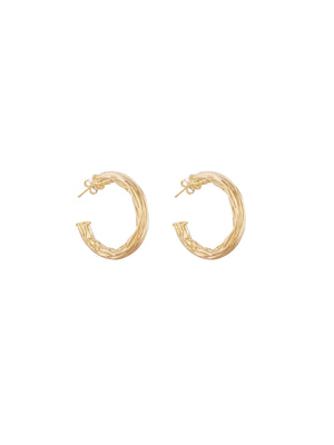 Hammered hoops 1.4""