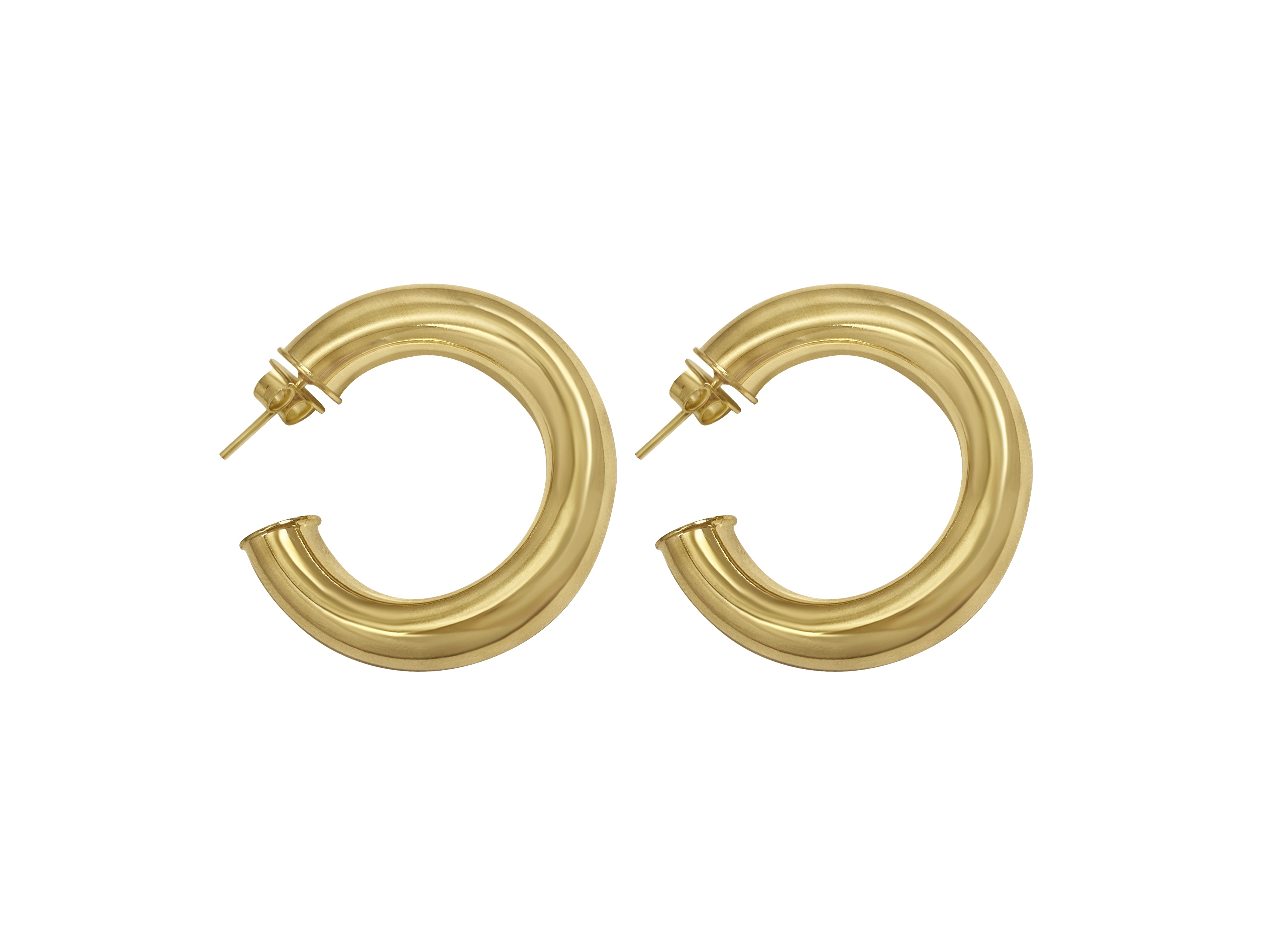 Emmy- Thick Gold Hoops