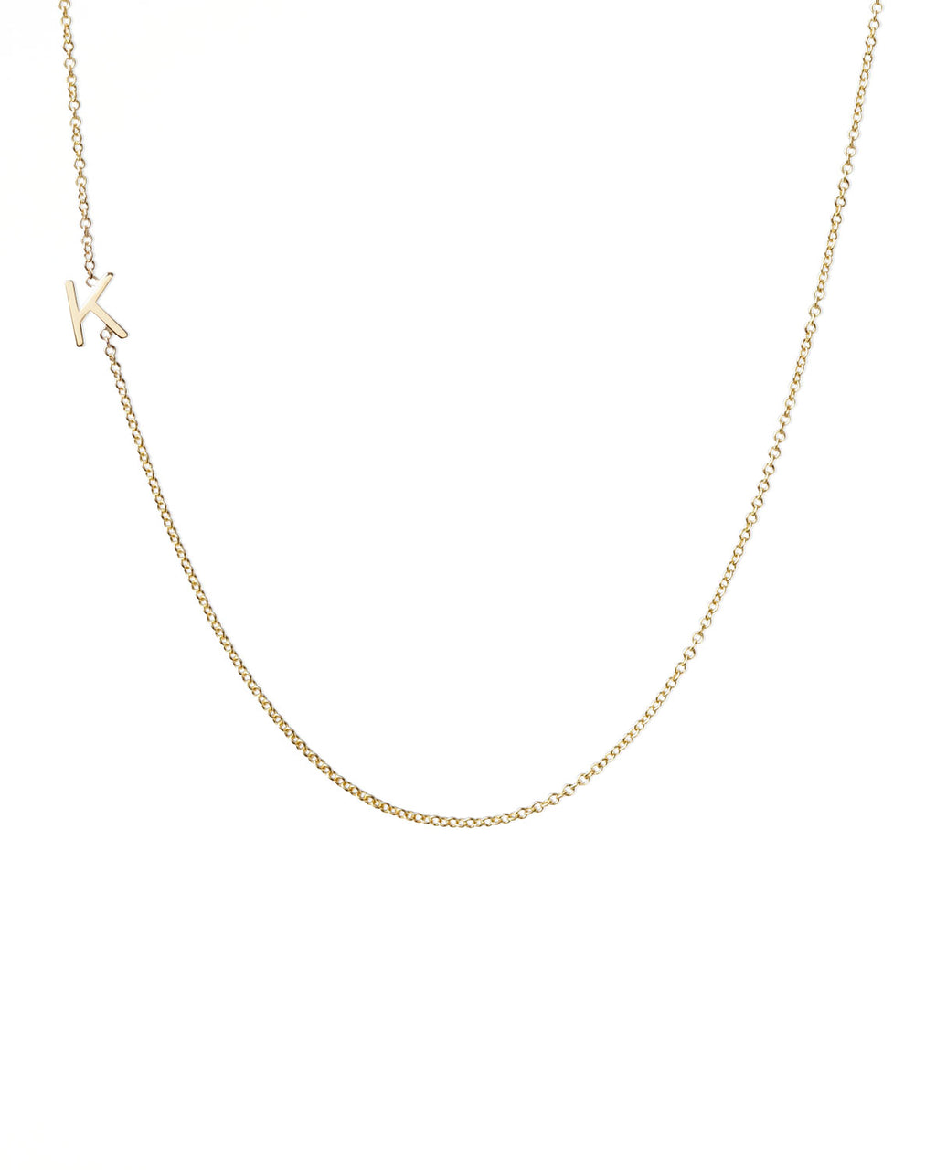 14 K Gold Initial Letter Necklace