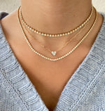 Heart Illusion - Paperclip Heart Necklace