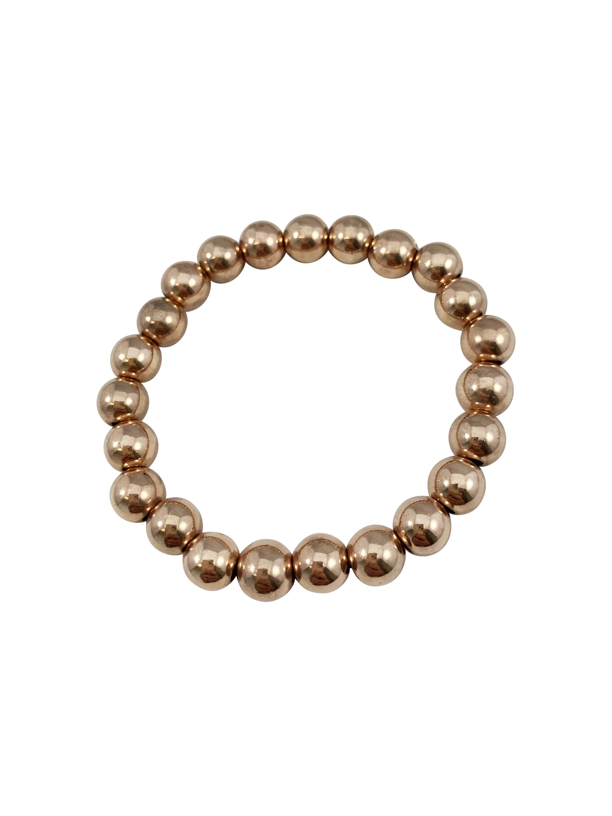 Gold Bead Bracelet ROSE Gold