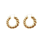 Mila Gold Small Twisted Hoops
