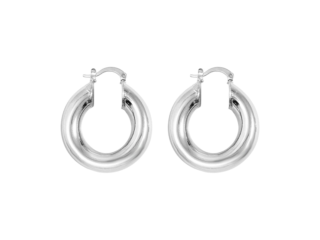 Selena Hoops 1 '' white gold