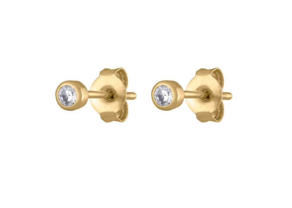 Small Bezel Diamond Studs