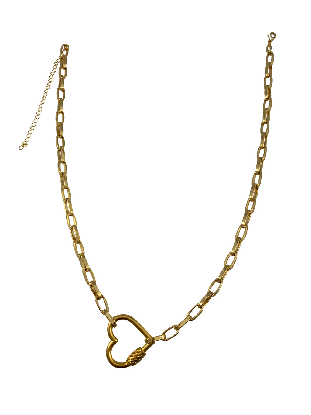 Scarlett Heart Lock Necklace