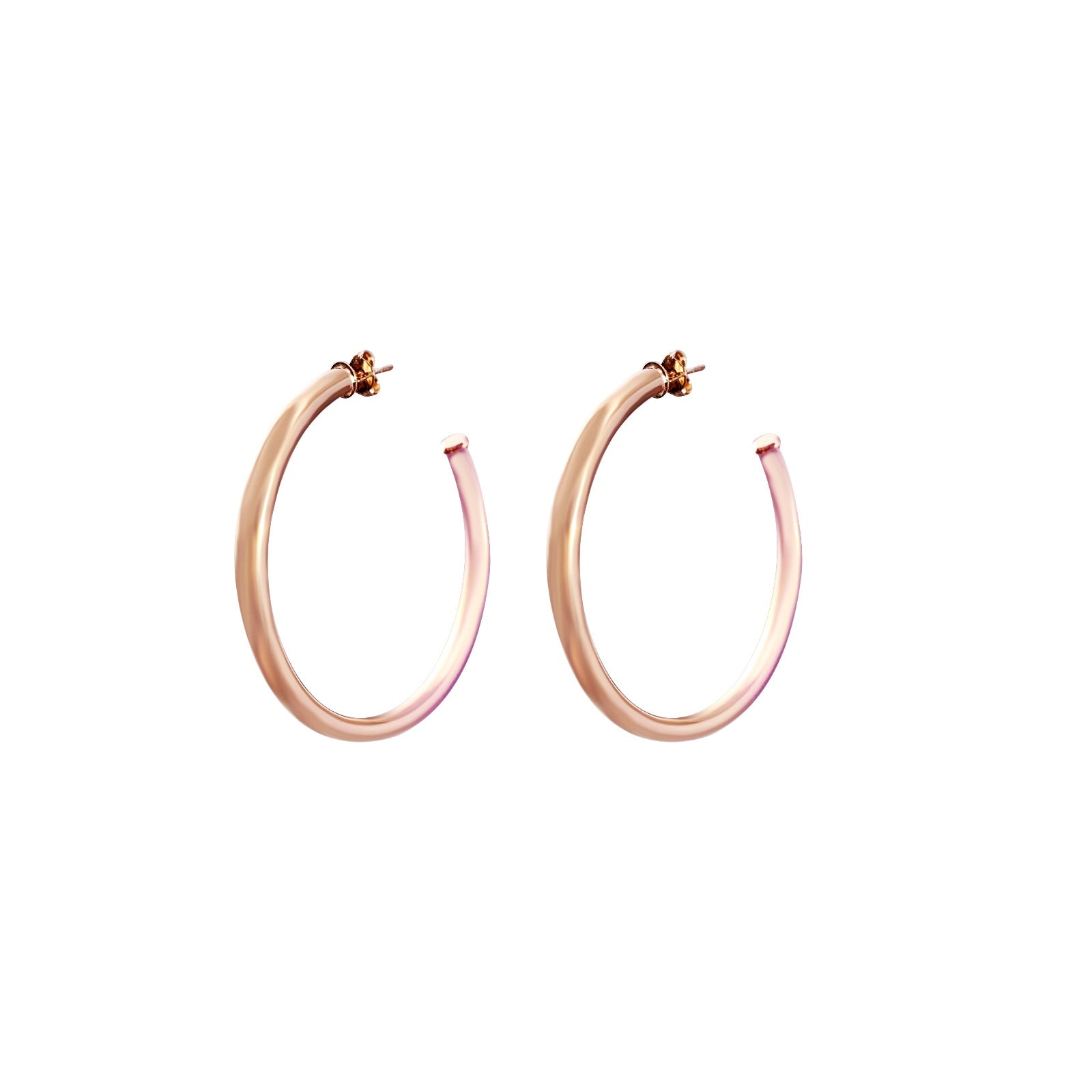 "Celine 2"" Rose Gold Hoops"
