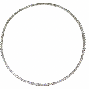 Bezel Tennis Necklace