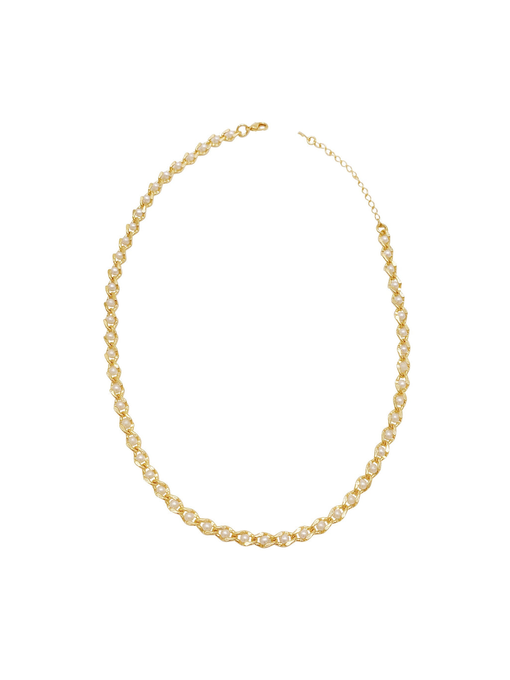 Golden Pearls Choker