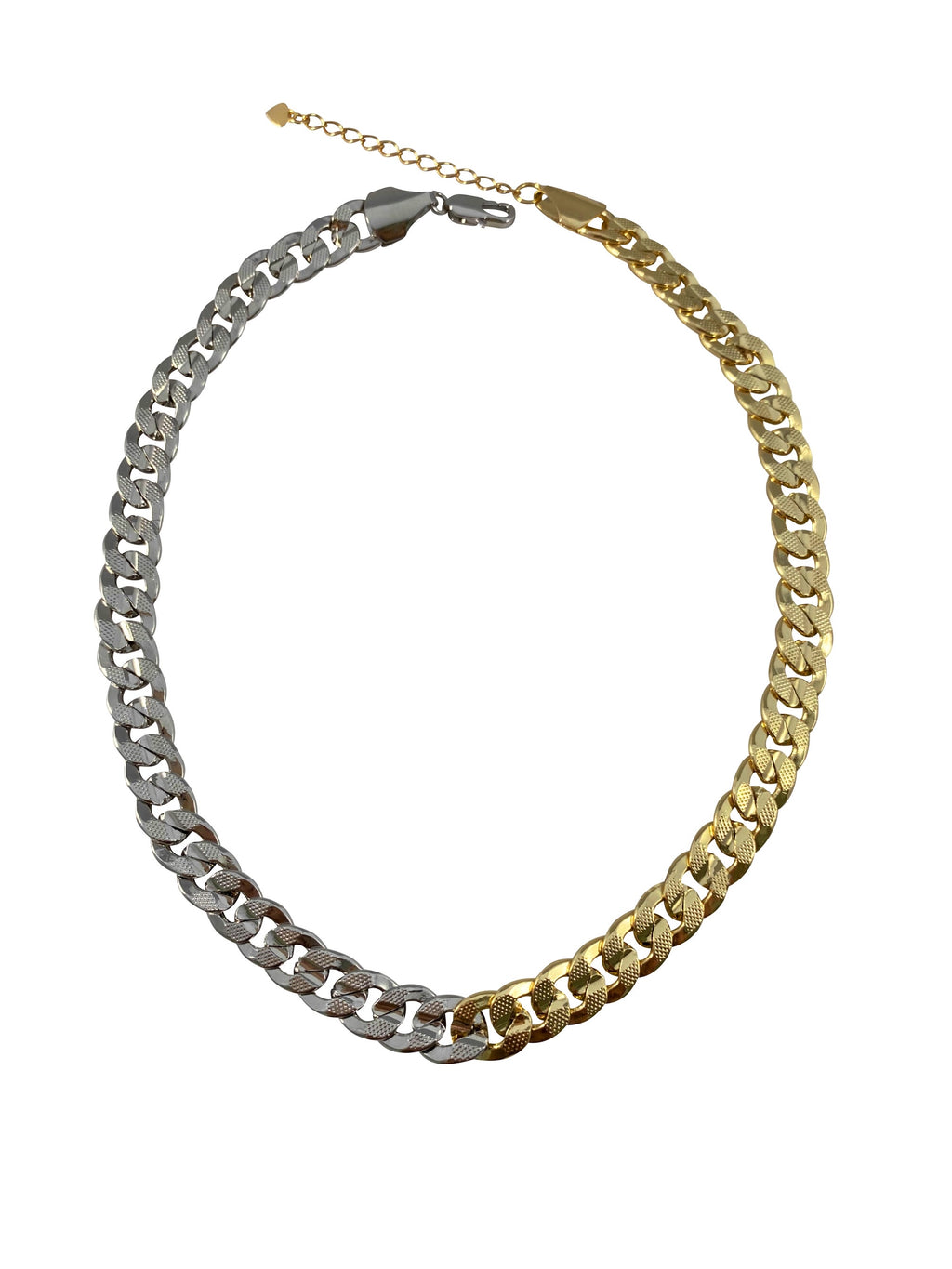Moitié Moitié - Yellow and White Gold Cuban Link