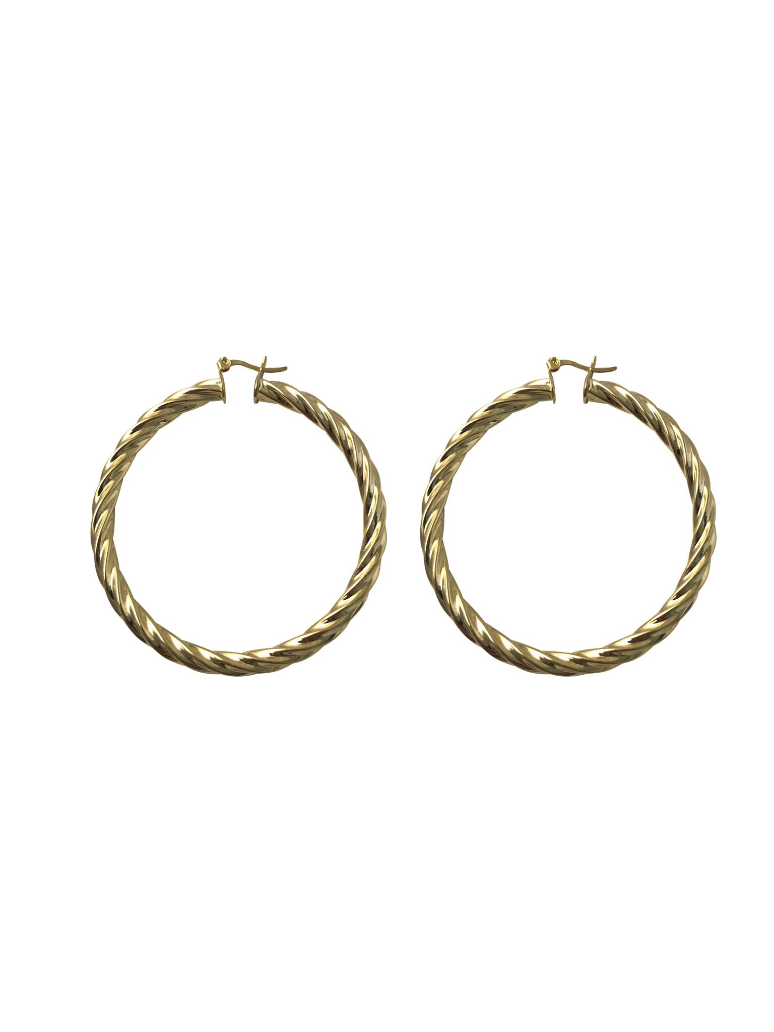 Bella Hoops - Gold Twisted Hoops