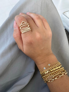Letter Stackable Rings