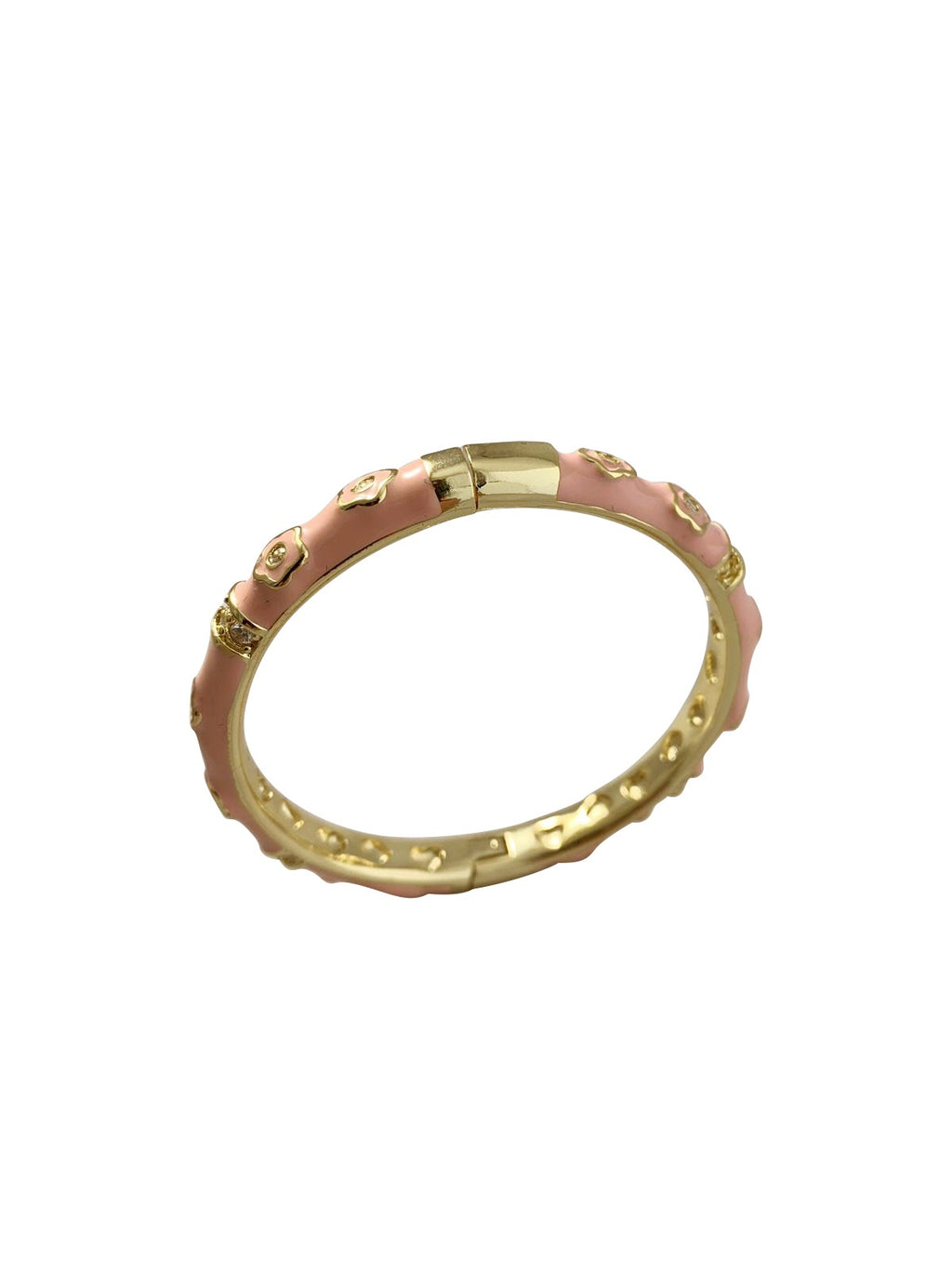 Pink Enamel Bangle