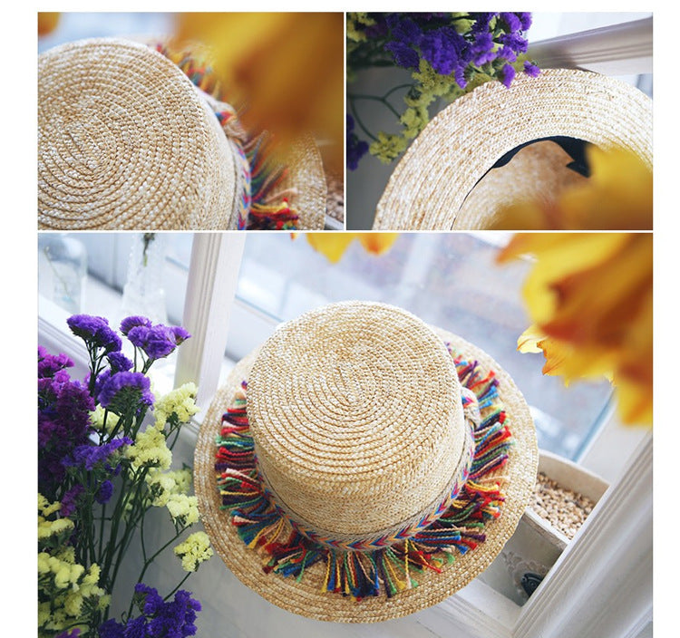 Stylish Tassel Straw Hat Premium Design