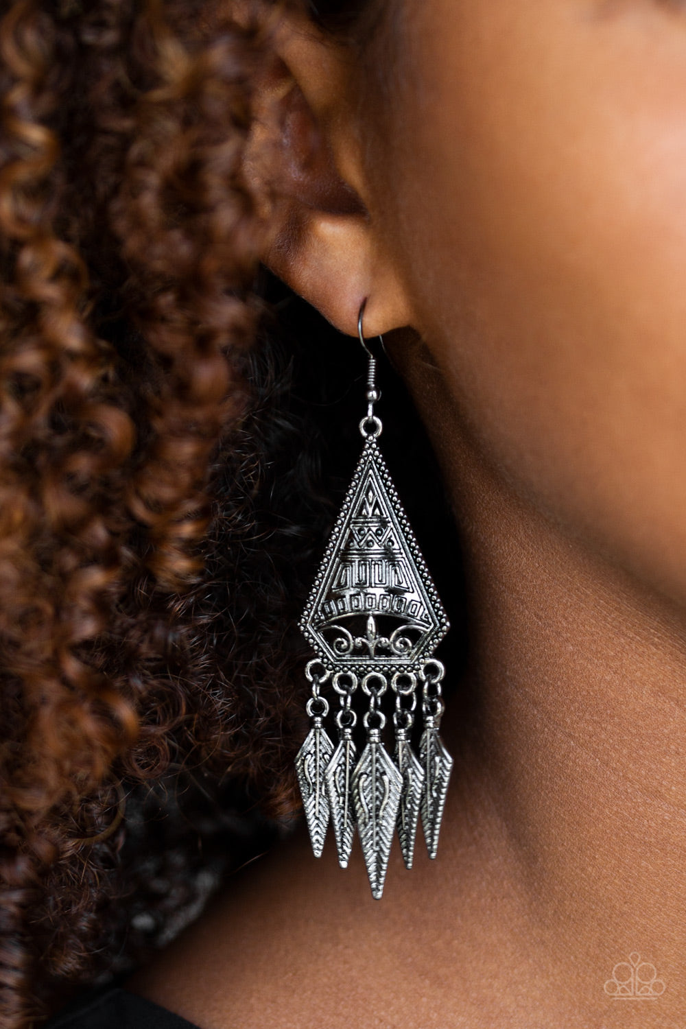 Me Oh MAYAN - Black Paparazzi Earring - Pink Dragon Jewels