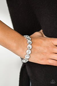 Number One Knockout - White Paparazzi Bracelet - Pink Dragon Jewels