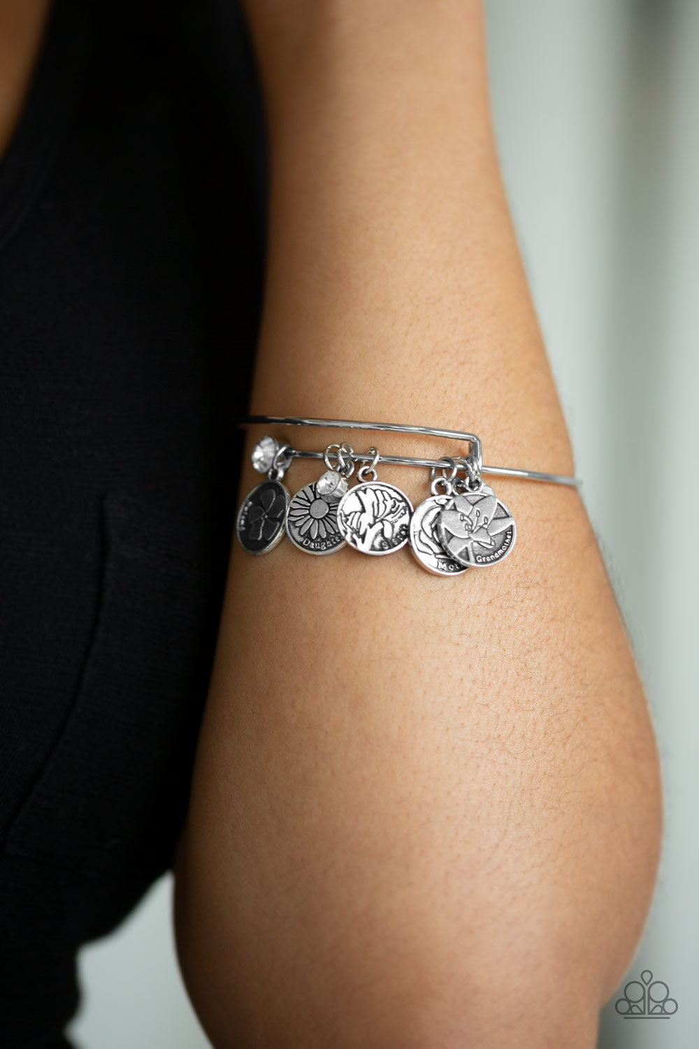Role Of A Lifetime - Silver Paparazzi Bracelet - Pink Dragon Jewels