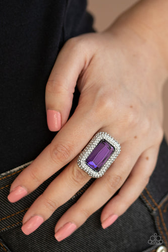 A Grand STATEMENT-MAKER - Purple Paparazzi Ring - Pink Dragon Jewels