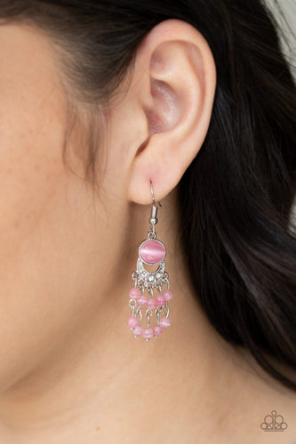 A Spring State Of Mind - Pink Paparazzi Earring - Pink Dragon Jewels