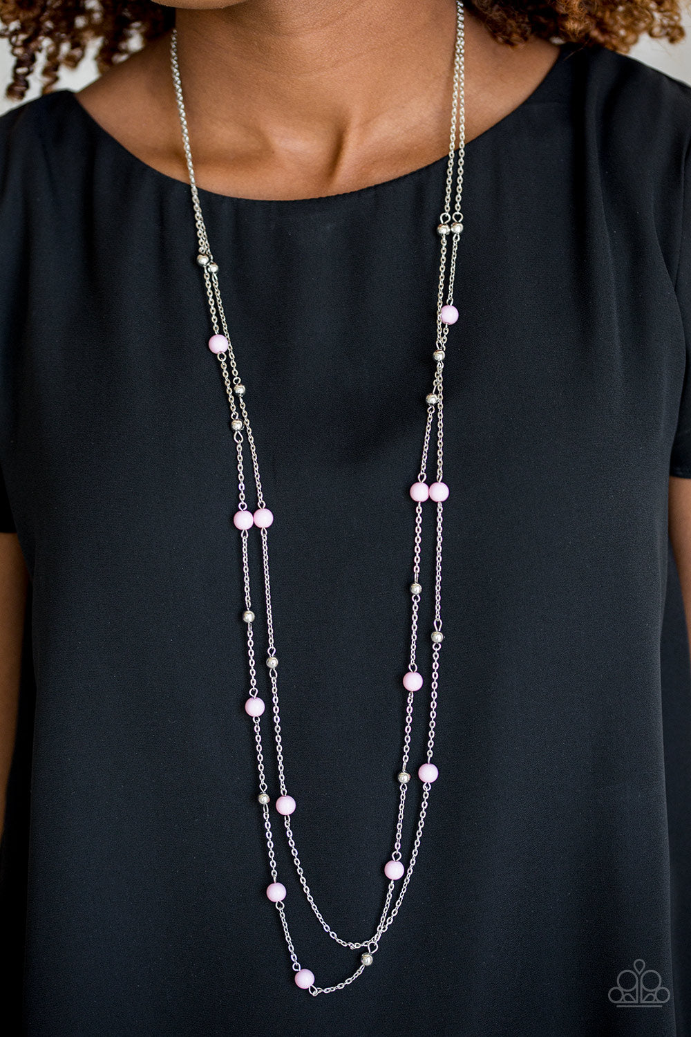Beach Party Pageant - Pink Paparazzi Necklace - Pink Dragon Jewels