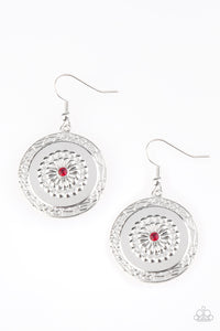 Peppy Poppy - Red Paparazzi Earring - Pink Dragon Jewels