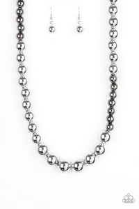 Power To The People - Silver Paparazzi Necklace - Pink Dragon Jewels