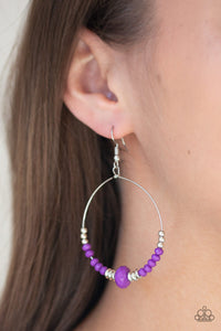 Retro Rural - Purple Paparazzi Earring - Pink Dragon Jewels