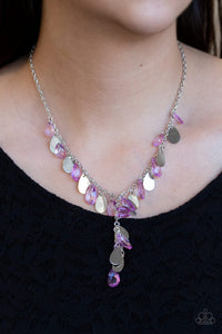 Sailboat Sunsets - Purple Paparazzi Necklace - Pink Dragon Jewels