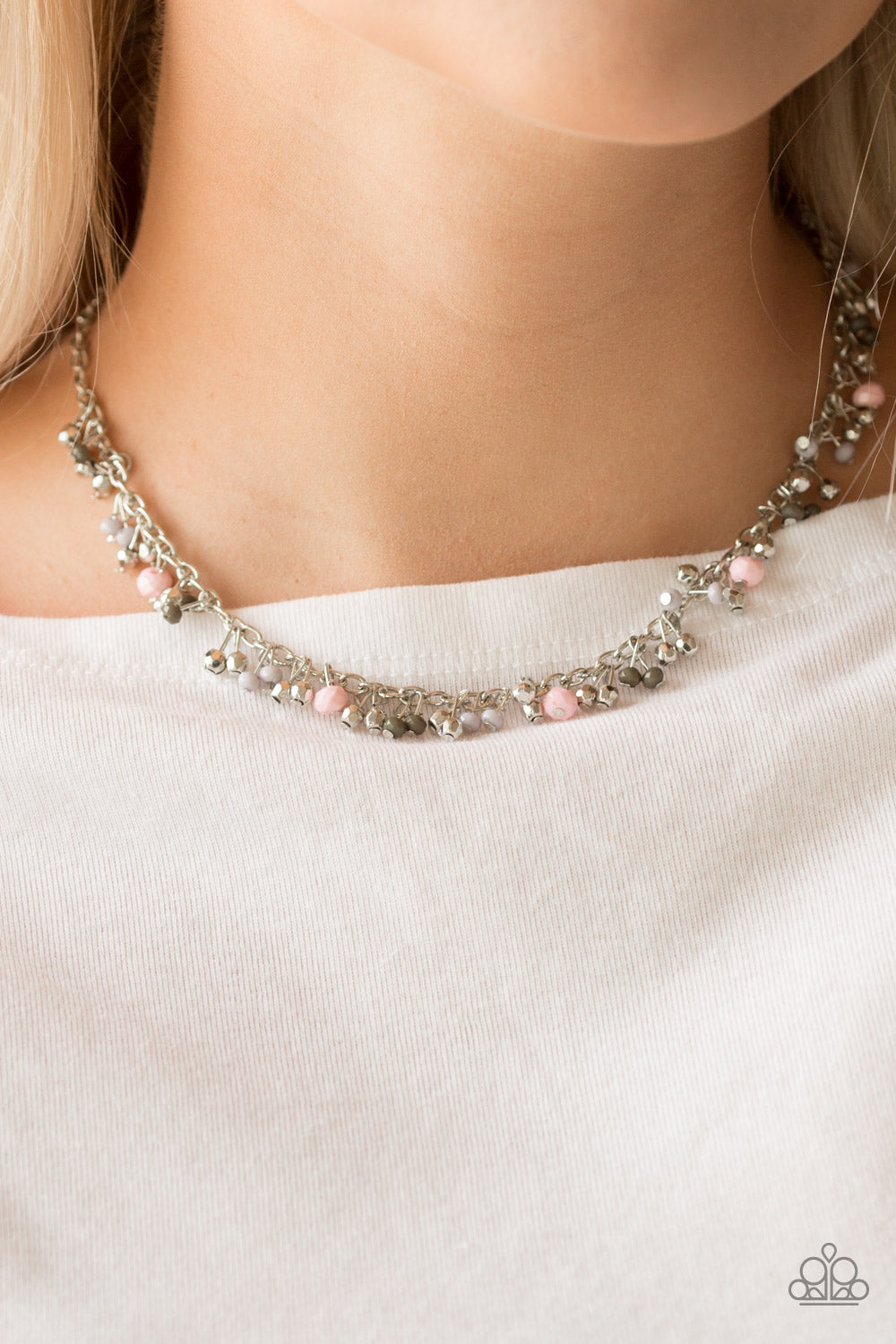 Sailing The Seven Seas - Pink Paparazzi Necklace - Pink Dragon Jewels