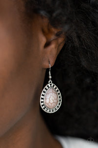 Sahara Serenity - Silver Paparazzi Earring - Pink Dragon Jewels