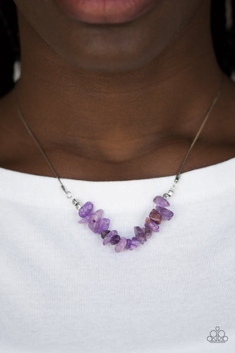 Back To Nature - Purple Paparazzi Necklace - Pink Dragon Jewels