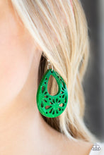 Load image into Gallery viewer, Merrily Marooned - Green Paparazzi Earring - Pink Dragon Jewels