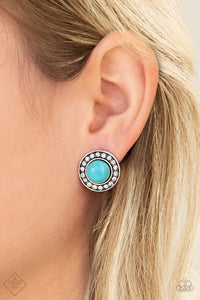 Saharas Finest - Blue Paparazzi Earring - Pink Dragon Jewels