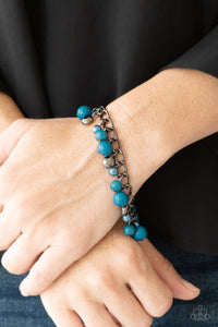 Hold My Drink - Blue Paparazzi Bracelet - Pink Dragon Jewels