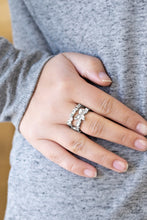 Load image into Gallery viewer, Cosmo Collection - White Paparazzi Ring - Pink Dragon Jewels