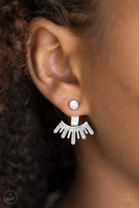 Diva Dynamite - White Paparazzi Earring - Pink Dragon Jewels